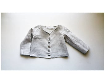 Linen Button Infant and Toddler Shirt Handmade by Papoose Clothing