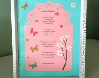 Mothers Day Poem Wall Art Decor