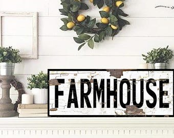 Farmhouse Sign For Kitchen Large Farmhouse Sign Farmhouse Sign Fixer Upper Farmhouse Decor Rustic Home Decor Fixer Upper Style Wood Sign
