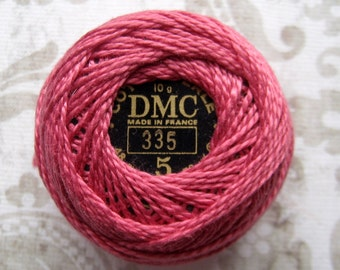 DMC Pearl Cotton Balls Size 5 - 335 Rose Pink