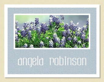 Beautiful Bluebonnets - Personalized Note Cards (10 Folded)