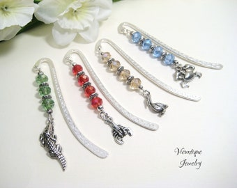 Cajun Bookmark, Beaded Bookmark, Louisiana Gift, Alligator Bookmark, Crawfish Bookmark, Pelican Bookmark, Crab Bookmark- Vieuxtique Original