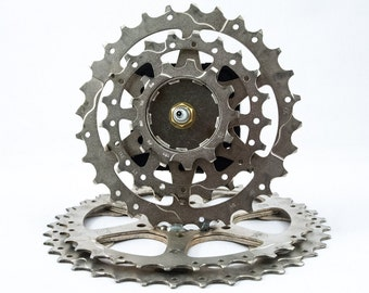 Recycled Bicycle Gear Clock - Desk