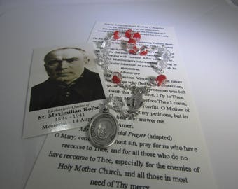 St. Maximilian Kolbe Chaplet~Auschwitz,drug addicts,journalists,prisoners,pro-life,amateur radio,Militia Immaculatae,amateur radio operator