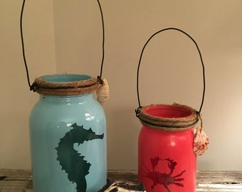Nautical pair of jars