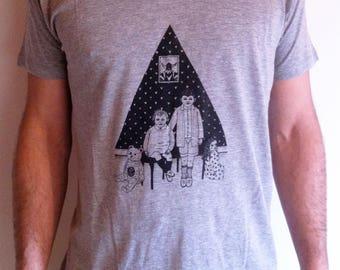 Men's T-shirt screen print / Heather grey