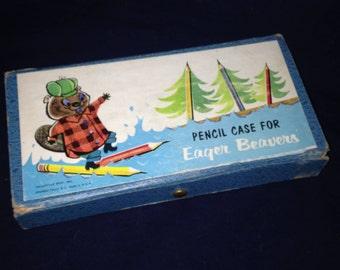 Vintage Eager Beavers  pencil case