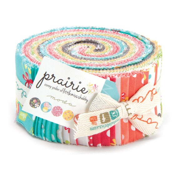 Prairie Jelly Roll From Corey Yoder of Little Miss Shabby Fabrics For Moda. Contains 40 Strips 29000JR With The Sweetest Mixture of Florals