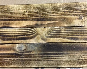 Burned wood canvas