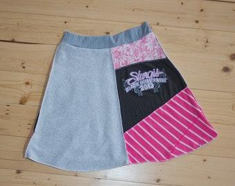 Women's Size Medium Pink & Gray Sturgis Skirt