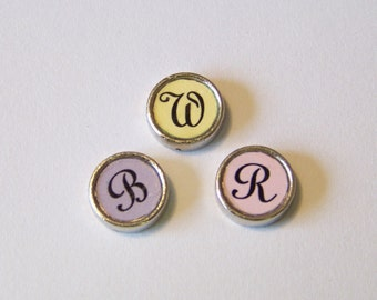 Custom Initial Floating Charm, you choose background color and initial