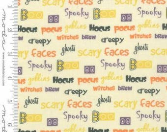 FABRIC HALLOWEEN WORDS from the Hocus Pocus line by Moda   We combine shipping