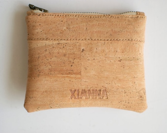 Cork pouch - Mini zip pouch - Vegan Coin Purse