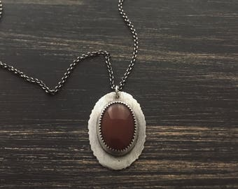 Reversible Carnelian Necklace