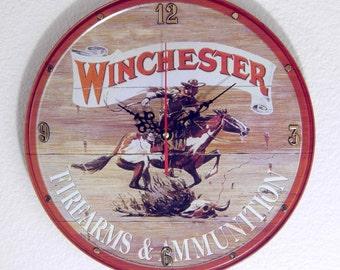 Winchester Firearms Wall Clock - 11.75 Diameter - New