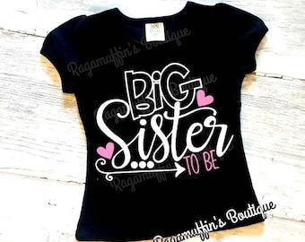 Big sister, big sister to be shirt, big sister announcement shirt, I'm going to be a big sister shirt, pregnancy announcement shirt, Big Sis