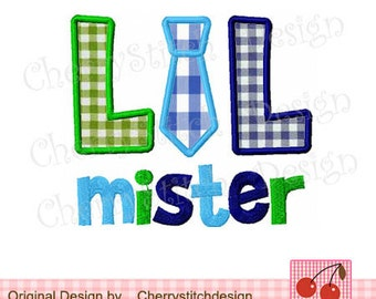LIL mister Embroidery Applique for boys- 4x4 5x5 6X6 inches