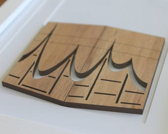 Ka'aba Wooden Laser Cut artwork (Unframed)