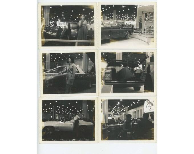 Set of 6 Vintage Polaroid Photos Car Show c1967? Chrysler Plymouth (79607)