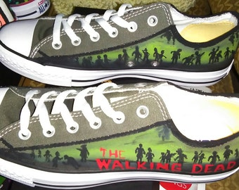 Zombie handpainted shoes