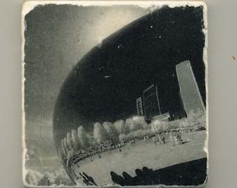 Cloud Gate in Infrared - Original Coaster