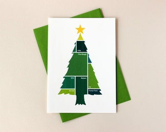 Color Swatch Tree Holiday Card Set
