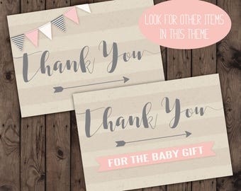 Baby Shower Thank You Cards, Banner Baby Thank you