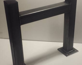 DIY Square Heavy Duty Metal Tube Table Legs Set of 2