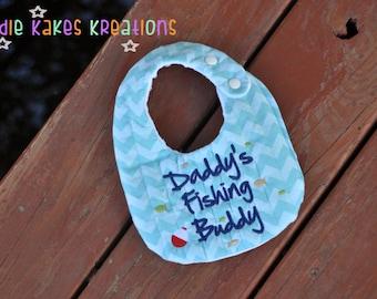 Personalized Daddy's Fishing Buddy Baby Bib