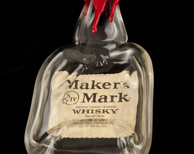 Makers Mark Bottle Melted Into a Dish