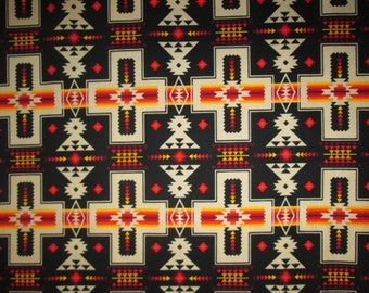 Navajo Cross Black Orange Cotton Fabric Fat Quarte Or Custom Listing