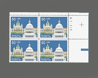 Set of 4 1991 1291 Switzerland 700th Anniversary 50 Cent US Postage Stamps
