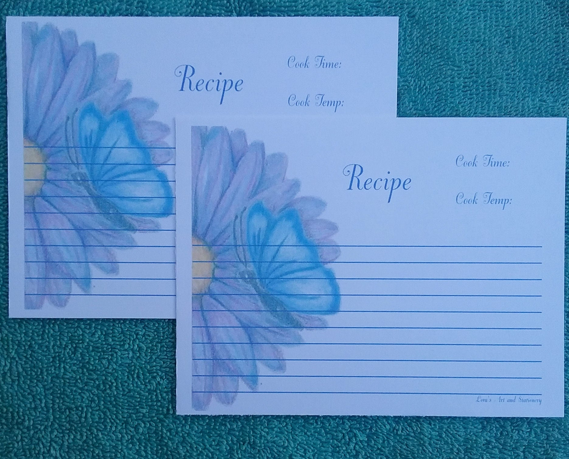 Baking recipe cards butterfly and flower recipe cards description baking recipe cards forumfinder Gallery