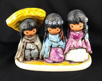 Wee Three DeGrazia Figurine