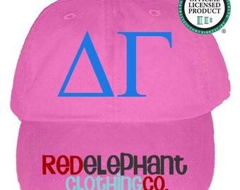 Delta Gamma Hat, Monogrammed Baseball Cap, Personalized Baseball Hat, Sorority Gift, Embroidered Ball Cap, Monogrammed Baseball Hat