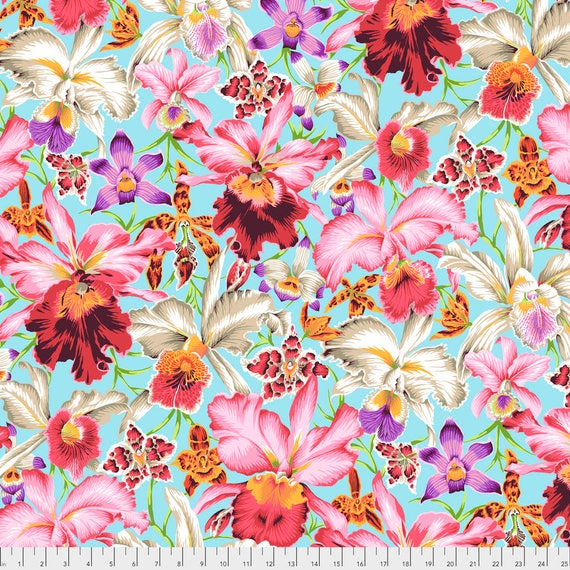 ORCHIDS Natural Philip Jacobs PWPJ092.NATUR Kaffe Fassett Sold in 1/2 yd increments Item