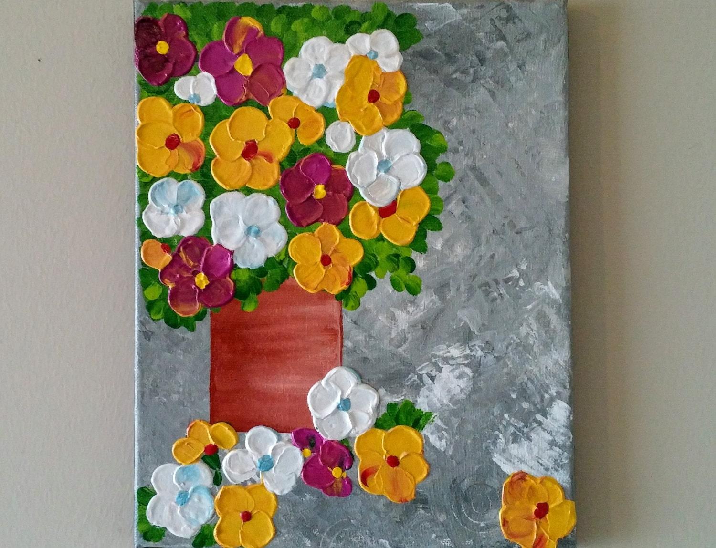 Original acrylic flower vase painting flowers in vase zoom reviewsmspy
