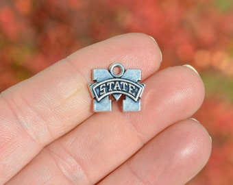 5 Silver Mississippi State Charms SC2569