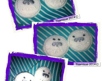 Yeti Button Covers for 38mm Self Cover Buttons - Machine Embroidery Hoop 4x4inch/100x100mm