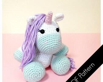 Free Amigurumi Unicorn Pattern : Pattern sweet unicorn pdf crochet toy pattern