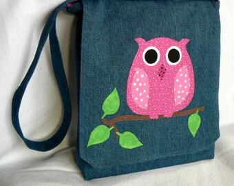 Messenger Bag Owl|Kid Messenger Bag|Teacher Gift Bag|School Supply Bag|Cross Body Bag|Travel bag|Gift for Teenager|Elementary School Bag