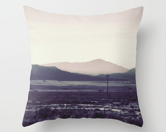 "Mountain pillow, mountain cushion, pink pillow, pink cushion,pink decor, pillow cover,cushion cover, photography, unique, 14"", 16"", 18"", 20"""