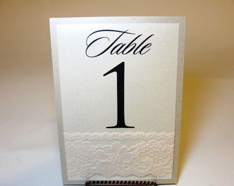 Lace Table Number Cards, Elegant Table Number Cards, Table Number Cards, Wedding Table Numbers, Vintage Table Numbers,  Table Numbers