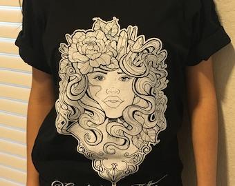 Girl's Face Tattoo shirt