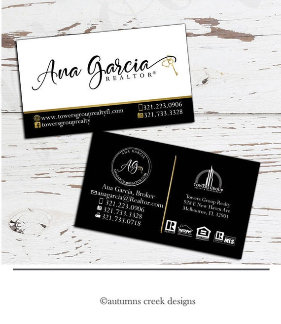 Business card design real estate business card real estate colourmoves
