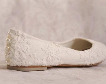 Wedding shoes lace wedding shoes flats ivory lace bridal flats lace wedding flats wedding flat shoes embellished shoes ivory wedding shoes