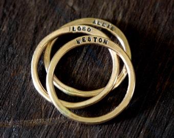 14 k Gold gefüllt personalisierte Ringe (E0313)
