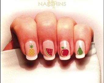 Fruit Nail Decal Pineapple Watermelon Apple ect. Set #1 Color Nailthins Nail Art
