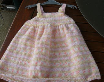 Pink and yellow 9a 12 months baby dress