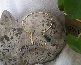 Gold Fox Bangle Bracelet